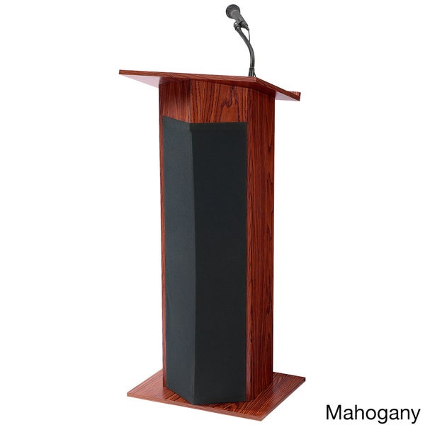 Power Plus Lectern with Wireless Tie-Clip Mic