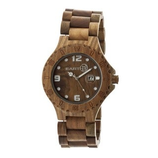 Earth Men's Raywood Olive Wood Analog Watch