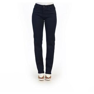 Hadari Women's Stretchy Navy Skinny Straight Jeans