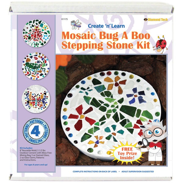 Mosaic Stepping Stone Kit-Bug A Boo