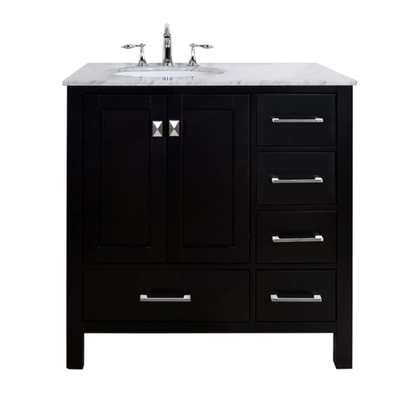 36 Inch Malibu Espresso Single Sink Bathroom Vanity With