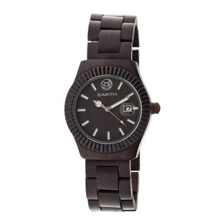 Earth Men's Pith Dark Brown Wood Analog Watch