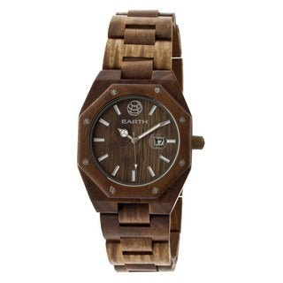 Earth Men's Medullary Ray Olive Wood Analog Watch