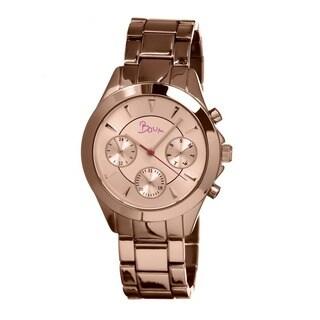 Boum Women's Baiser Rose Goldtone Stainless Steel Analog Watch