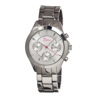 Boum Women's Baiser Silvertone Stainless Steel Analog Watch