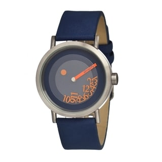 Simplify Men's The 500 Blue Leather Analog Watch