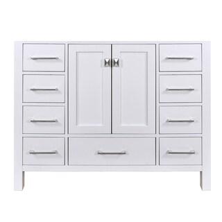 48-inch Malibu Pure White Single Sink Bathroom Vanity Cabinet