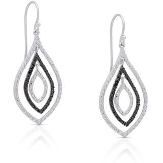 Finesque Sterling Silver Diamond Accent Dangle Earrings (I-J, I2-I3)