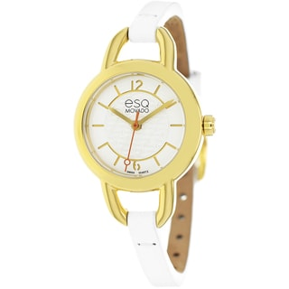 ESQ by Movado Women's 7101450 Status White Leather Watch