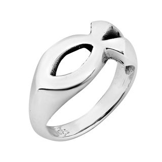 Gorgeous Christian Fish .925 Sterling Silver Ring (Thailand)