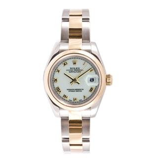Pre-owned Rolex Women's Datejust Two-tone White Dial Watch