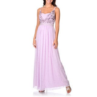 Decode 1.8 Women's Lilac Beaded and Sequined Evening Dress
