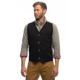 Stormy Kromer Men's 'Uptown' Black Wool and Flannel Vest