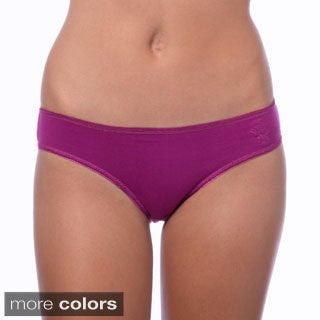 24/7 Frenzy Women's Multicolored Cotton Blend Bikini Panties (12 pairs)
