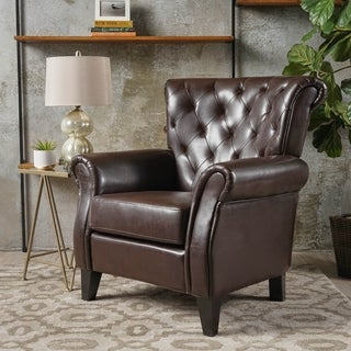 Christopher Knight Home Greggory Bonded Leather Club Chair
