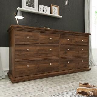 Sonoma White Contemporary 8-drawer Double Dresser