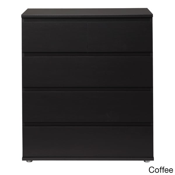 Aurora Streamlined 5-drawer Wide Chest