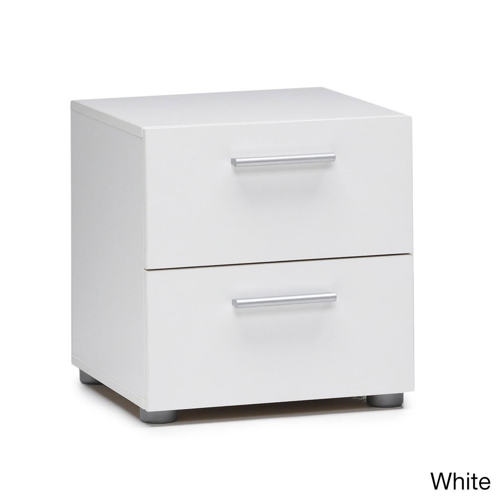 Overstock.com Austin Streamline Foiled 2-drawer Nightstand