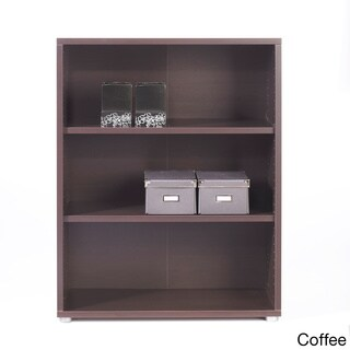 Pierce Two-shelf Contemporary Wood Bookcase