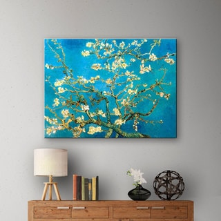 VanGogh 'Almond Blossoms' Gallery-wrapped Canvas Art
