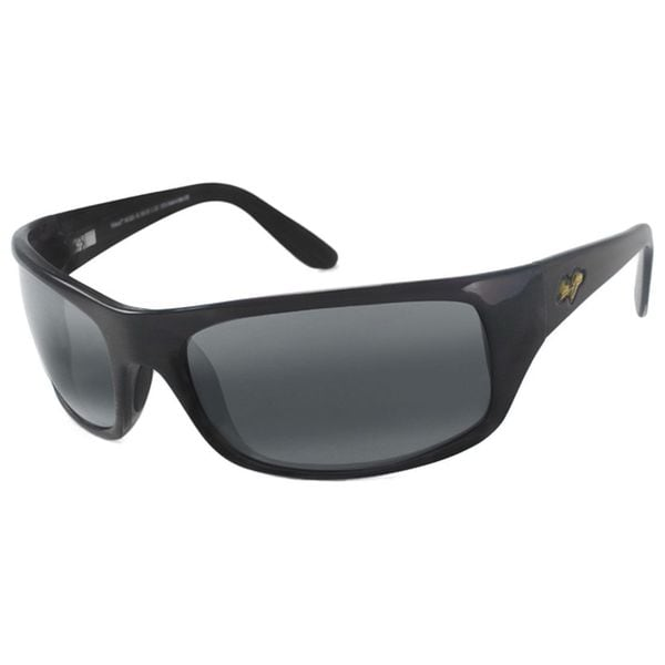 Maui Jim Men's 'Peahi Glass' Gloss Black Polarized Sport Sunglasses