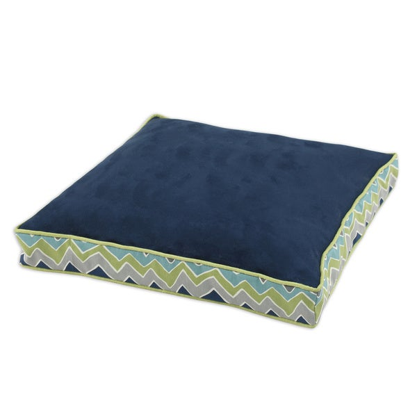 Passion Suede Navy See-saw Rectangle Pet Bed