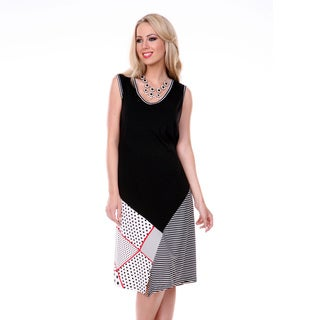 Women's Multi-pattern Sleeveless Dress