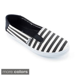 Corkys Women's 'Anchor' Striped Fabric Slide-in Shoes