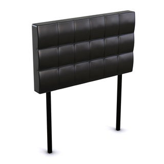 Countess Twin Tufted Button Faux Leather Headboard