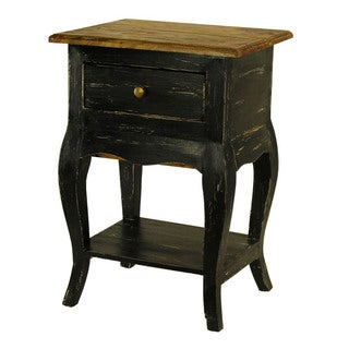 Le Bureau Distressed Mohogany Side Table with Secret Drawer