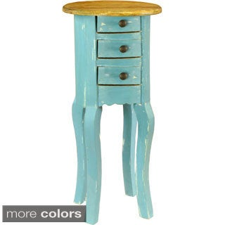 Theodore European Style Distressed Side Table