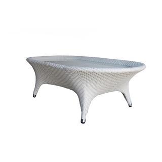 Flora Ovale Wicker Coffee Table