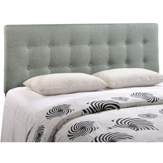 Quad Button-tufted Fabric Queen Headboard