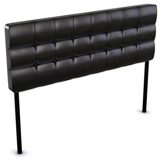 Quad Button-tufted PU Queen-size Headboard