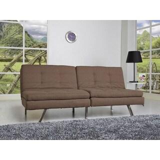 Memphis Coffee Double Cushion Futon Sofa Bed