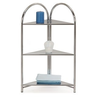 Chrome Arched Top Three-shelf Corner Stand