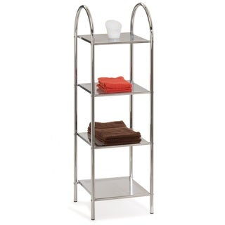 Chrome Arched Top Four-shelf Stand