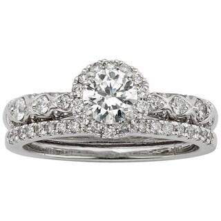 Sofia 14k White Gold 1ct TDW Certified White Diamond Bridal Ring Set (H-I, I1-I2)