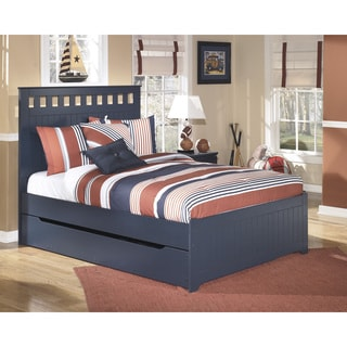 Signature Design by Ashley 'Leo' Blue Panel Bed/ Trundle Set