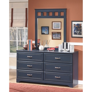 Signature Designs by Ashley Leo Youth Blue Bedroom Dresser and Mirror