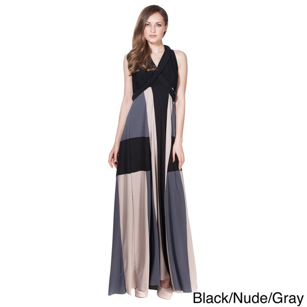 Von Ronen Women's Colorblocked Long Transformer Dress One Size Fits 0-12