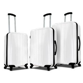 VisionAir Riverbend White 3-piece Hardside Spinner Luggage Set
