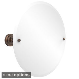 Unframed Round Beveled-edge Tilt Wall Mirror