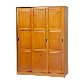 Customizable Solid Pine Three Sliding Door Wardrobe