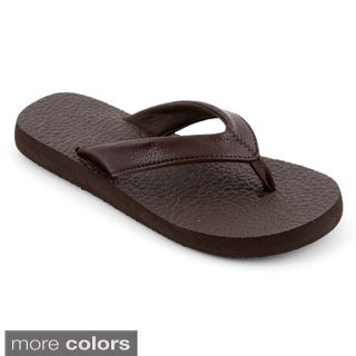 Corkys Women's 'Exercise' Faux Leather Flip-flops