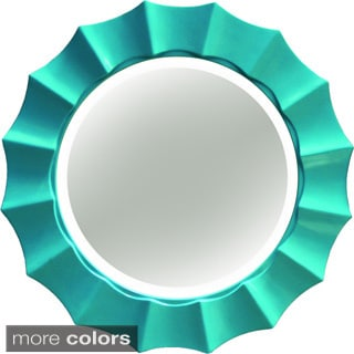 Sunshine Beveled Decorative Round Mirror