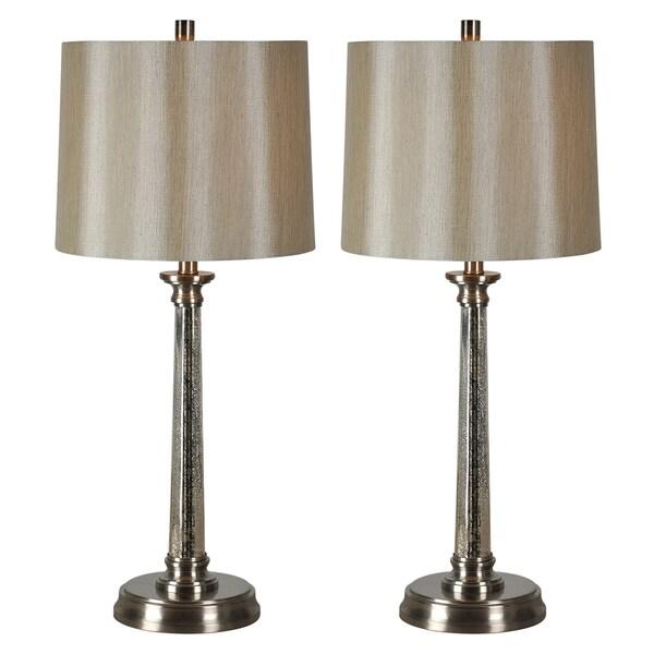 Brooks Nickel Finish 1-light Table Lamp (Set of 2)