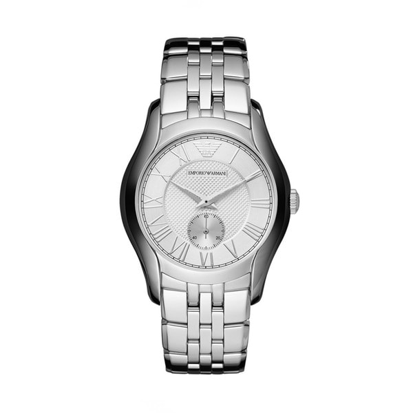 Emporio Armani AR1711 Silvertone Dial Stainless Steel Watch