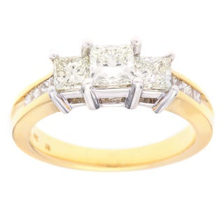 SummerRose 14k Two-tone Gold 1 1/2ct TDW 3-stone Diamond Ring (G-H, SI1-SI2)