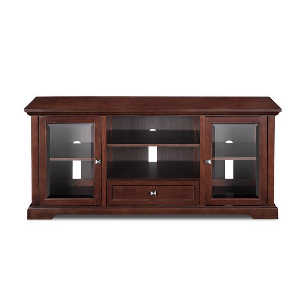 60 inch mocha tv stand 16446398 shopping great deals on jeco entertainment. Black Bedroom Furniture Sets. Home Design Ideas